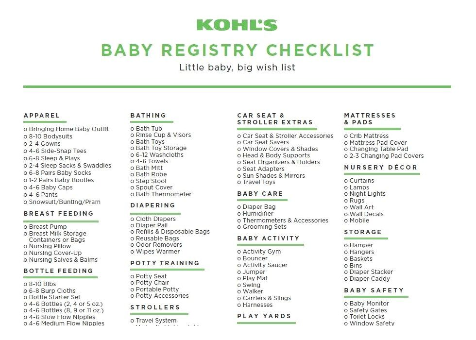 30+ Baby registry checklists (baby checklists) - template lab the little details and