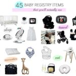 Baby essentials – registry listing for first-time moms