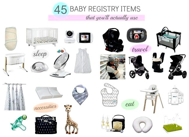 Baby essentials - registry listing for first-time moms the web site