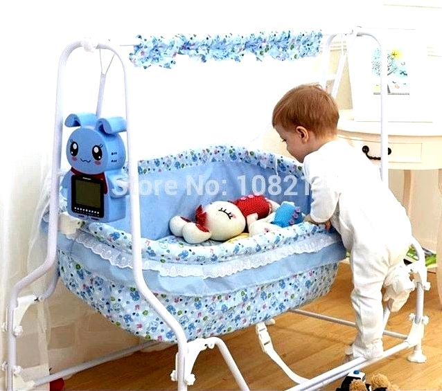 blue baby crib hot selling newborn baby automatic swing cradle cartoon rabbit electric swing cribs controller pink blue baby crib drop shipping baby blue crib skirt