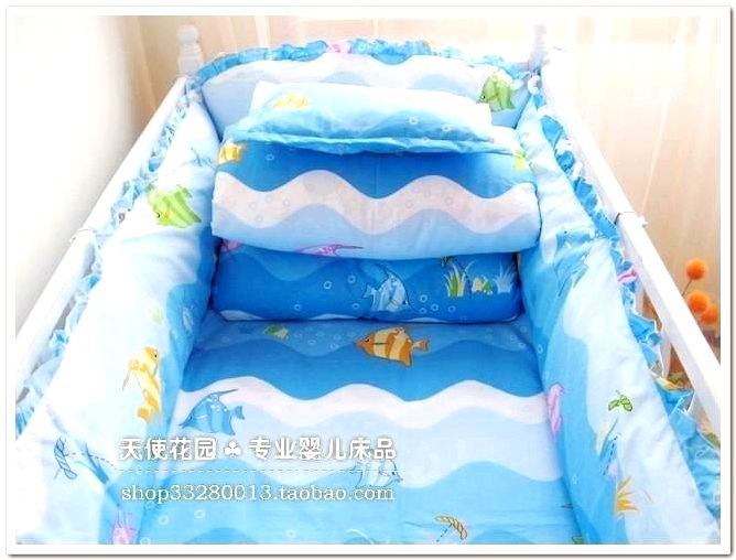 blue baby crib breathable baby bed bumper crib bumper cover baby nursery bedding cot crib navy blue baby crib bedding