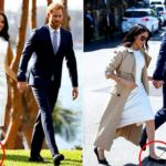 Meghan markle, eight several weeks pregnant, walking in four-inch heels