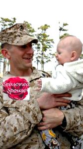 After deployment, my husband finally got to hold his infant son! This is the moment they met!