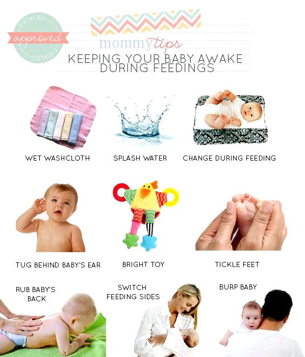 Methods to keep newborns awake during breastfeeding Rhythmic compressions