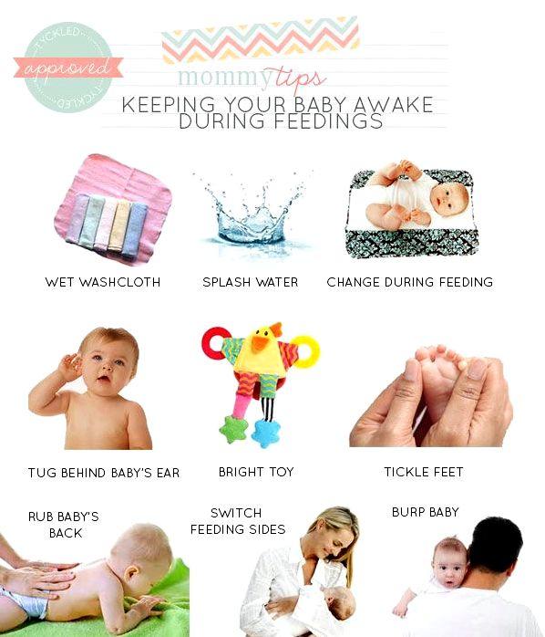 Methods to keep newborns awake during breastfeeding Rhythmic compressions