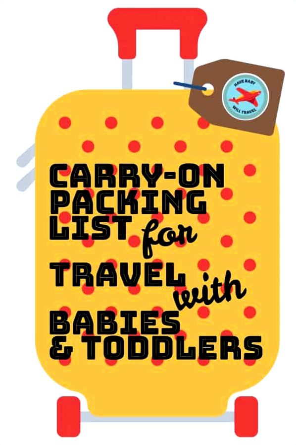 Packing listing for flying by having an infant Plan        from Allianz