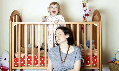 The wide-awake club: having your child to rest think of the baby me