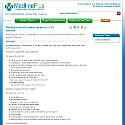 Toddler development: medlineplus medical encyclopedia Keep toddlers from the kitchen